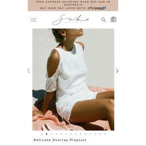 Sabo Skirt Other - Sabo Skirt Delicate Overlay Playsuit